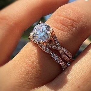 Jewelry - 🆕🌹Rose gold wedding set🌹🆕